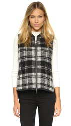 Madewell Reversible Plaid Vest Black White