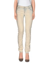 E Go Denim Denim Trousers Women Ivory