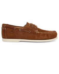Polo Ralph Lauren Tobacco Bienne Ii Suede Boat Shoes