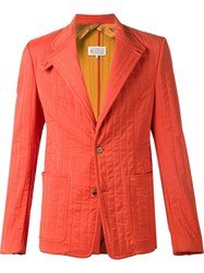 Maison Martin Margiela Maison Margiela Quilted Blazer Yellow And Orange