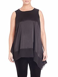Eileen Fisher Silk Asymmetrical Tunic Black