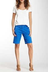 Marrakech Cotton Blend Trouser Short Blue