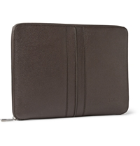 Tod's Cross Grain Leather A4 Document Holder Brown