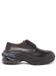 Maison Martin Margiela Cross Exaggerated Sole Leather Derby Shoes Black