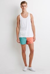 Forever 21 Colorblocked Swim Trunks