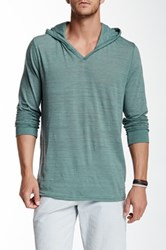 Threads 4 Thought V Neck Long Sleeve Hoodie Green