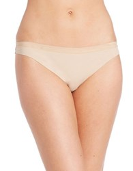 Dkny Solid Microfiber Thong Skin
