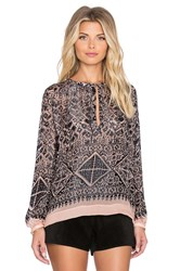 Twelfth St. By Cynthia Vincent Nomad Peasant Top Black