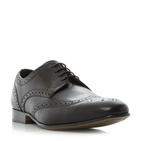 Howick Rushmoor 1 Punched Wingtip Gibson Shoes Black