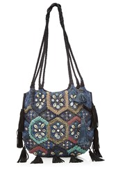 Christophe Sauvat Embroidered And Embellished Tote Bag With Leather