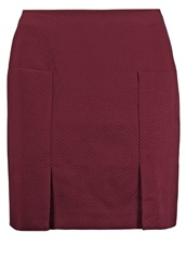 Kiomi Mini Skirt Tawny Dark Red