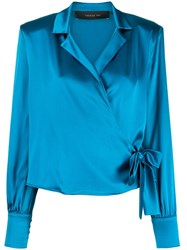 Federica Tosi Wrap Front Silk Blouse 60