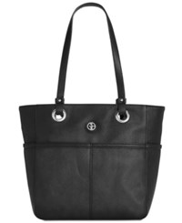 Giani Bernini Pebble Leather Large Tote Created For Macy's Black