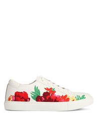Kenneth Cole Kam Floral Leather Sneakers Red Multi