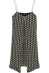 Madewell Printed Silk Mini Dress Black