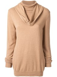 Jejia Cowl Neck Jumper Brown