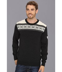 Dale Of Norway Hemsedal Masculine E Dark Charcoal Off White Men's Sweater Black