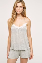 Anthropologie Daisy Lace Cami Grey