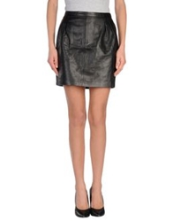 Blk Dnm Mini Skirts Black