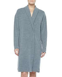Cosabella Aosta Fleece Short Robe Anthracite