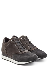 Max Mara Suede Sneakers With Small Wedge Grey