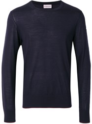 Moncler Loose Fit Sweater Blue
