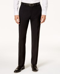 Bar Iii Men's Slim Fit Active Stretch Solid Black Suit Pants Created For Macy's