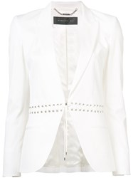 Barbara Bui Fitted Blazer Women Cotton Spandex Elastane Viscose 8 White