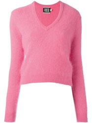 Fausto Puglisi V Neck Jumper Pink Purple