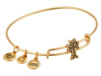 Alex And Ani Armenian Cross Slider Expandable Wire Bangle Gold Bracelet