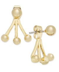 Inc International Concepts Gold Tone Three Prong Front Back Earring Only At Macy's