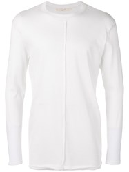 Damir Doma Ribbed Detail Longsleeved T Shirt Men Cotton Polyester M Nude Neutrals