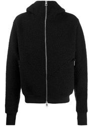 Andrea Ya'aqov Shearling Zip Up Jacket Black