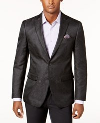 Tallia Men's Big And Tall Slim Fit Black Brocade Dinner Jacket