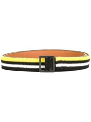 Ermanno Scervino Striped Belt Black