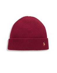 Polo Ralph Lauren Merino Wool Beanie Red