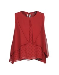 Yes Zee By Essenza Tops Brick Red