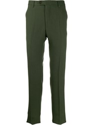 Golden Goose High Waist Tailored Trousers Green
