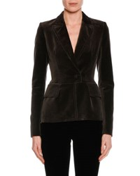Tom Ford Fitted Velvet Tuxedo Jacket Black