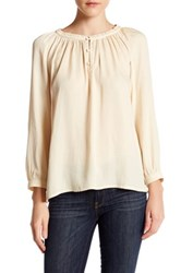 14Th And Union Peasant Blouse Petite Beige Burnt
