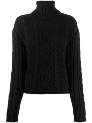 Andrea Ya'aqov Cable Knit Jumper Black
