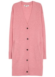 Mcq By Alexander Mcqueen Pink Wool And Cashmere Cardigan