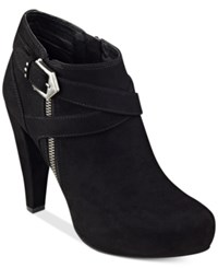 G By Guess Taylin Platform Dress Booties Women's Shoes Black