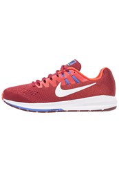 Nike Performance Air Zoom Structure 20 Stabilty Running Shoes Team Red White Max Orange Medium Blue Hyper Orange Black