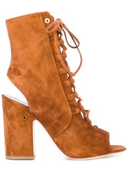 Laurence Dacade Nelly Cut Out Boots Brown