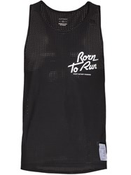 Satisfy Born To Run Print Perforated Vest Black