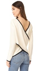 Derek Lam 10 Crosby Cross Back Sweater Ivory Black
