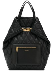 Givenchy Duo Llg Losange Quilted Backpack Black