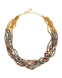 Nakamol Chunky Beaded Torsade Statement Necklace Multi