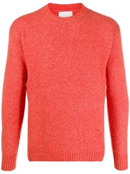 Laneus Crew Neck Knit Sweater Orange